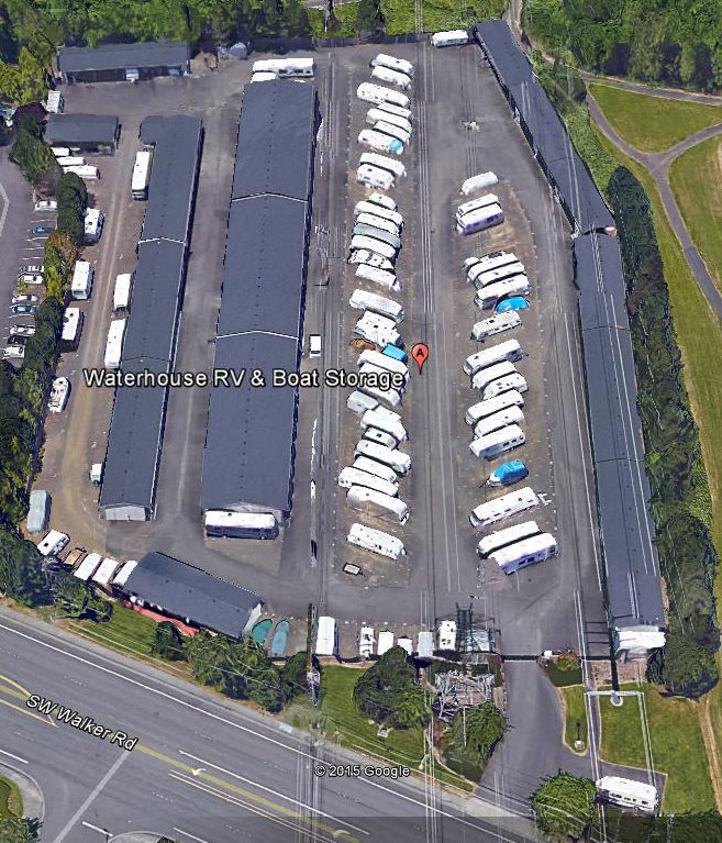 waterhouse rv and boat storage overhead view